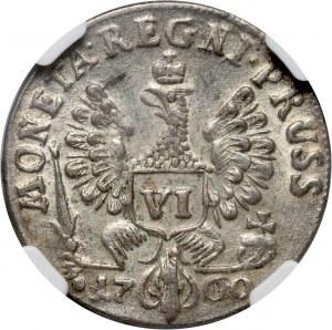 Russia, Elizabeth I, Coins for Prussia, 6 Groschen 1760, Koenisberg