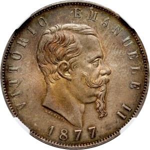 Włochy, Wiktor Emanuel II, 5 lirów 1877 R, Rzym