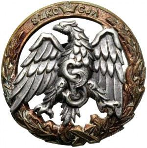 PSZ na Zachodzie, odznaka absolwencka, Szkoła Podchorążych Piechoty i Kawalerii Zmotoryzowanej Szkocja