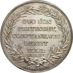 Stanisław August Poniatowski, medal z 1771 roku, przedstawiający popiersia Adama Naruszewicza i Macieja Sarbiewskiego