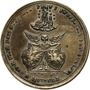 XIX wiek, medal z 1861 roku, wybity na pamiątkę Unii w Horodle