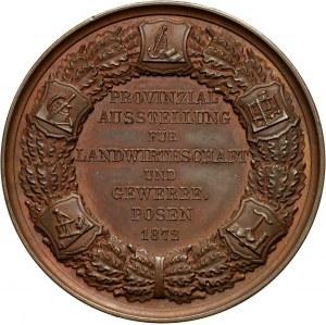 XIX wiek, medal z 1872 roku, Wystawa Rolnictwa i Rzemiosła w Poznaniu