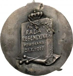 XX wiek, medal z 1917 roku, wybity z okazji objęcia urzędu przez Radę Regencyjną 27 października 1917