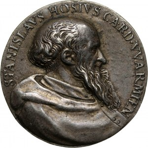 Stanisław Hozjusz 1504-1579, biskup warmiński i chełmiński, sekretarz Zygmunta I Starego, medal jednostronny