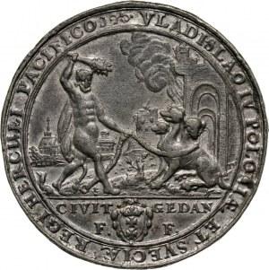 Władysław IV Waza, Gdańsk, odbitka w cynie medalu z 1637 roku, upamiętniającego wojny z Moskwą, Szwecją i Turcją