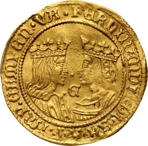 Netherlands, Kampen, Ferdinand and Isabella, 2 Ducats ND (1590-1593)