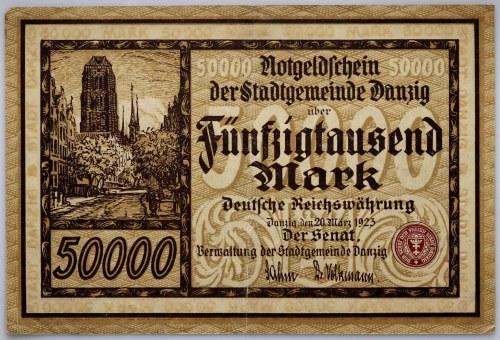 Wolne Miasto Gdańsk, 50.000 marek 26.03.1923