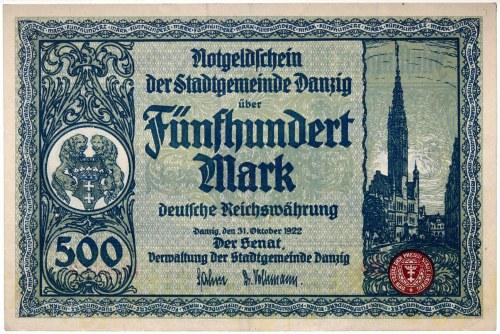 Wolne Miasto Gdańsk, 500 marek 31.10.1922