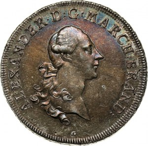 Germany, Brandenburg-Ansbach, Alexander, Thaler 1773 G, Schwabach