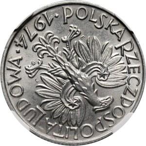 PRL, 5 złotych 1974, Rybak, SKRĘTKA