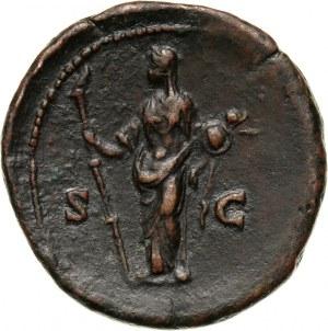 Roman Empire, Faustina I (wife of Antonius Pius), Dupondius or As, Rome