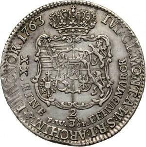 Fryderyk Chrystian, 2/3 talara 1763 FWôF, Drezno