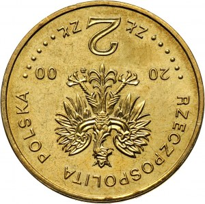 III RP, 2 złote 2000, Jan II Kazimierz, ODWROTKA