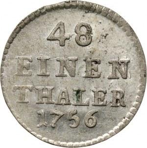 August III, 1/48 talara (półgrosz) 1756 FWôF, Drezno
