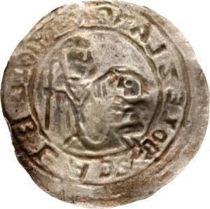 Bolesław III Krzywousty 1107-1138, brakteat protekcyjny, św. Wojciech i książę