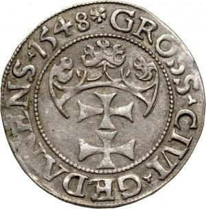 Zygmunt I Stary, grosz 1548, Gdańsk