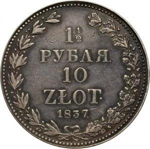 Zabór rosyjski, Mikołaj I, 1 1/2 rubla = 10 złotych 1837 MW, Warszawa