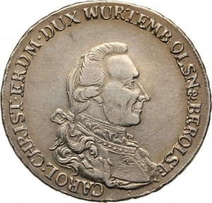 Śląsk, księstwo oleśnickie, Karol Krystian Erdmann 1744-1792, talar 1785 B, Wrocław