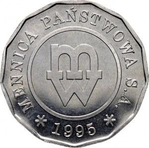 III RP, Próba technologiczna, Mennica Państwowa, 1995, nikiel, trzynastokątna