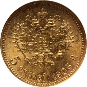 Russia, Nicholas II, 5 Roubles 1903 (AP), St. Petersburg