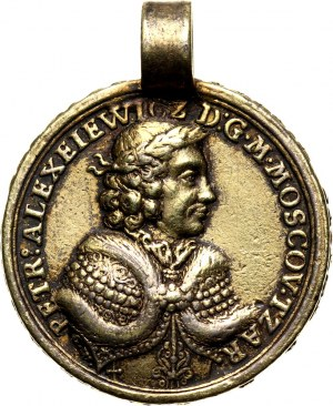 Russia, Peter I, medal 1698, Grand Embassy of Peter the Great
