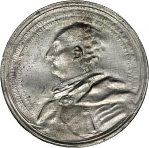 August III, odbitka jednostronna medalu z 1748 roku wybitego na pamiątkę 50-tych urodzin Jana Małachowskiego
