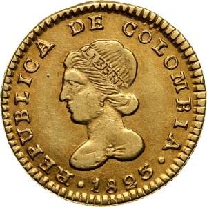 Columbia, 1 Escudo 1823 FM, Popayan