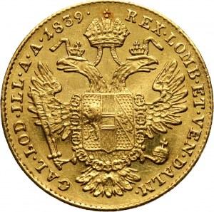 Austria, Ferdynand I, dukat 1839 E, Karlsburg