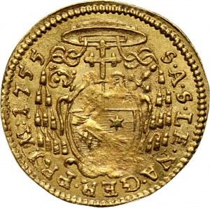 Austria, Salzburg, Zygmunt III z Schrattenbach, 1/4 dukata 1755