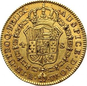 Spain, Charles IV, 4 Escudos 1787 M-DV, Madrid
