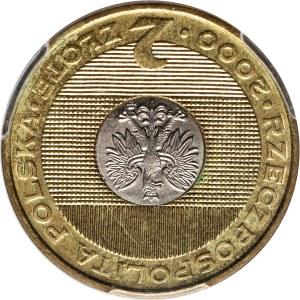 III RP, 2 złote 2000, Rok 2000, ODWROTKA