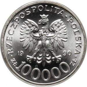 III RP, 100000 złotych 1990, Solidarność, Typ C