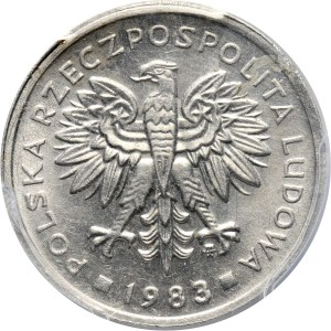 PRL, 2 złote 1983, PRÓBA, aluminium