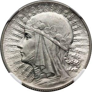 II RP, 5 złotych 1933, Warszawa, Głowa kobiety