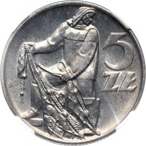 PRL, 5 złotych, 1971, Rybak