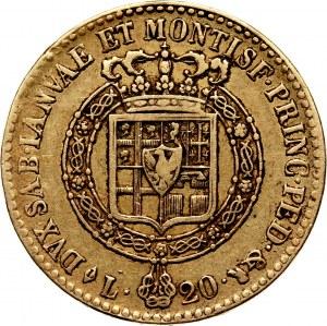 Włochy, Sardynia, Wiktor Emanuel I, 20 lirów 1819, Torino