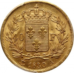 France, Charles X, 40 Francs 1830 A, Paris
