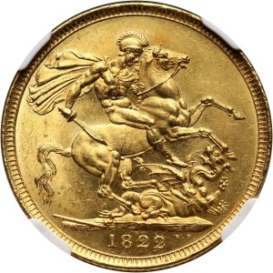 Great Britain, George IV, Sovereign 1822, London