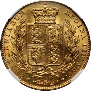Great Britain, Victoria, Sovereign 1843, London, Broad shield