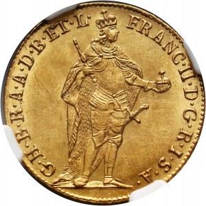 Węgry, Franciszek II, dukat 1796, Kremnica