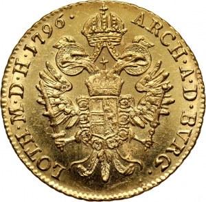 Austria, Franciszek II, dukat 1796 B, Kremnica