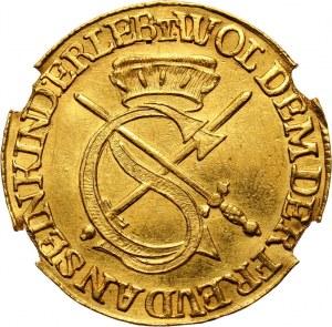 Niemcy, Saksonia, Jan Jerzy I, dukat 1616 IHS, restrike