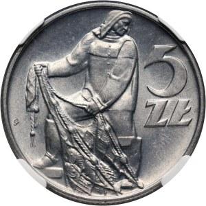 PRL, 5 złotych 1971, Rybak