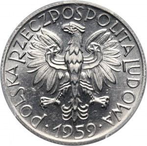 PRL, 5 złotych 1959, Rybak