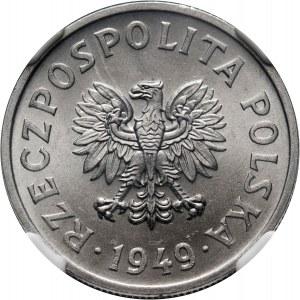 PRL, 50 groszy 1949, aluminium