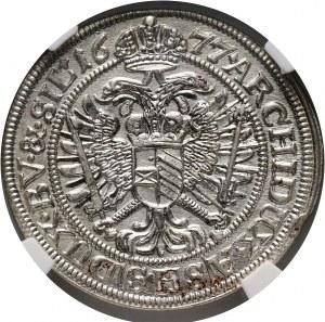 Śląsk pod panowaniem austriackim, Leopold I, 6 krajcarów 1677, Wrocław