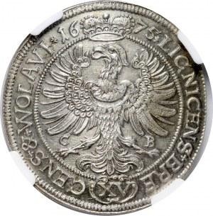 Śląsk, Księstwo Legnicko-Brzesko-Wołowskie, Jerzy Wilhelm, 15 krajcarów 1675, Brzeg
