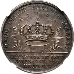 Stanisław August Poniatowski, medal koronacyjny z 1764 roku
