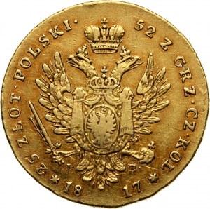 Królestwo Kongresowe, Aleksander I, 25 złotych 1817 IB, Warszawa