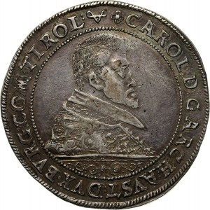 Śląsk, Księstwo nyskie biskupów wrocławskich, Karol Austriacki, talar 1614, Nysa